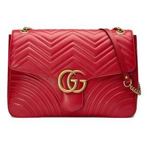 Gucci Large GG Marmont Leather Shoulder Bag